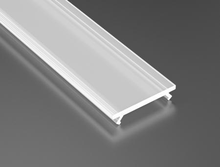 LED21 Matný PMMA difuzor KLIK pro profily LUMINES A/B/C/D/G/H/Z/Y 1m